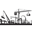 Industrial construction scene vector image
