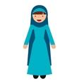 islamic woman culture icon vector image