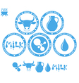 Milk Set vector image