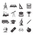 School Black Icon Set vector image