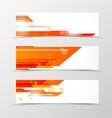 Set of header banner tech design vector image vector image
