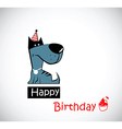 Happy Birthday dog vector image