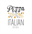 Many Ingredients Premium Quality Italian Pizza vector image