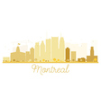 Montreal City skyline golden silhouette vector image