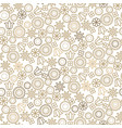 gold line floral 8 march seamless pattern vector image vector image