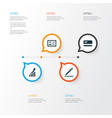 Job icons set collection of pen increasing vector image