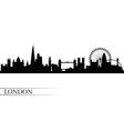 London city skyline silhouette background vector image vector image