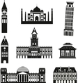 Black travel icons vector image