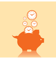Save money concept with piggy bank stock vector image vector image