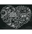 heart doodles vector image