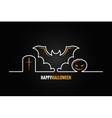 halloween pumpkin bat design background vector image