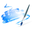 winter drawing with paintbrush vector image vector image