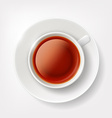 White cup of tea vector image
