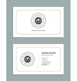 Business Card Design and Retro Style Template Logo vector image