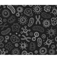 Microbes Virus and Bacteria Seamless Pattern vector image