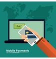 Mobile payment design vector image