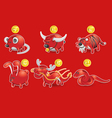 Piggy bank of chinese zodiac vector image