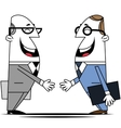 Two businessman vector image