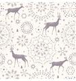 deer seamless winter vector image vector image