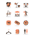 Confectionery restaurant and club icons vector image vector image