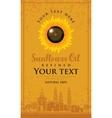 label for sunflower oil vector image
