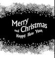 Christmas Greeting Snowflakes frame black vector image vector image