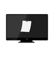 Modern tv with note vector image vector image