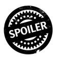 spoiler rubber stamp vector image