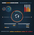 future sight action mode earth interface vector image