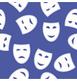 white masks seamless pattern vector image