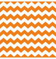 tile chevron pattern with orange and white zig zag vector image vector image
