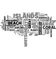 whitsundays islands in the sun text word cloud vector image