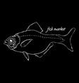 fish market logo vector image