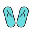 summer flip-flops icon vector image