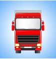 shipping truck on sky background vector image vector image