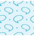 Speech bubbles and stars seamless pattern vector image