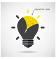 Creative light bulb Idea concept with doodle hand vector image