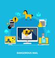 dangerous mail design concept vector image