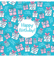 Seamless pattern Happy Birthday vector image