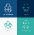 set of abstract logo design templates vector image