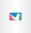 white dove logo icon design vector image