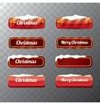 Christmas web buttons set winter web buttons vector image