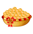 A basket of oranges vector image