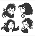 retro faces vector image vector image