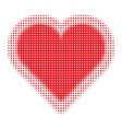 Valentine Heart Halftone for your design vector image