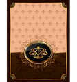 golden ornate frame with emblem - vector image vector image