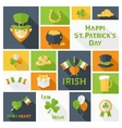 Saint Patricks Day icons set vector image