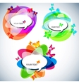 abstract bubbles for speech vector image