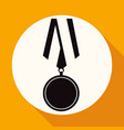 flat medal icon with long shadow vector image