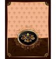 golden ornate frame with emblem - vector image